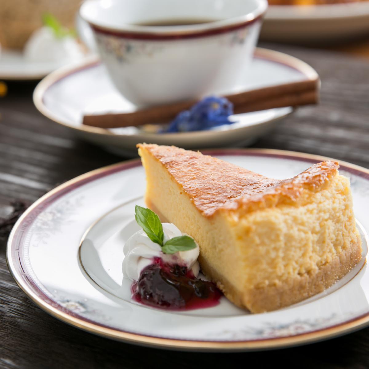 喫茶ノーマのチーズケーキ
